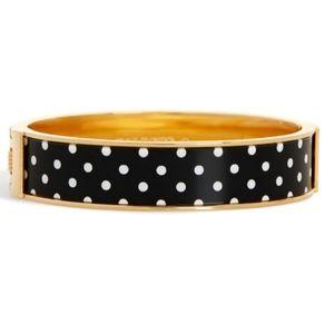 TALBOTS polka dot goldtone printed bangle bracelet